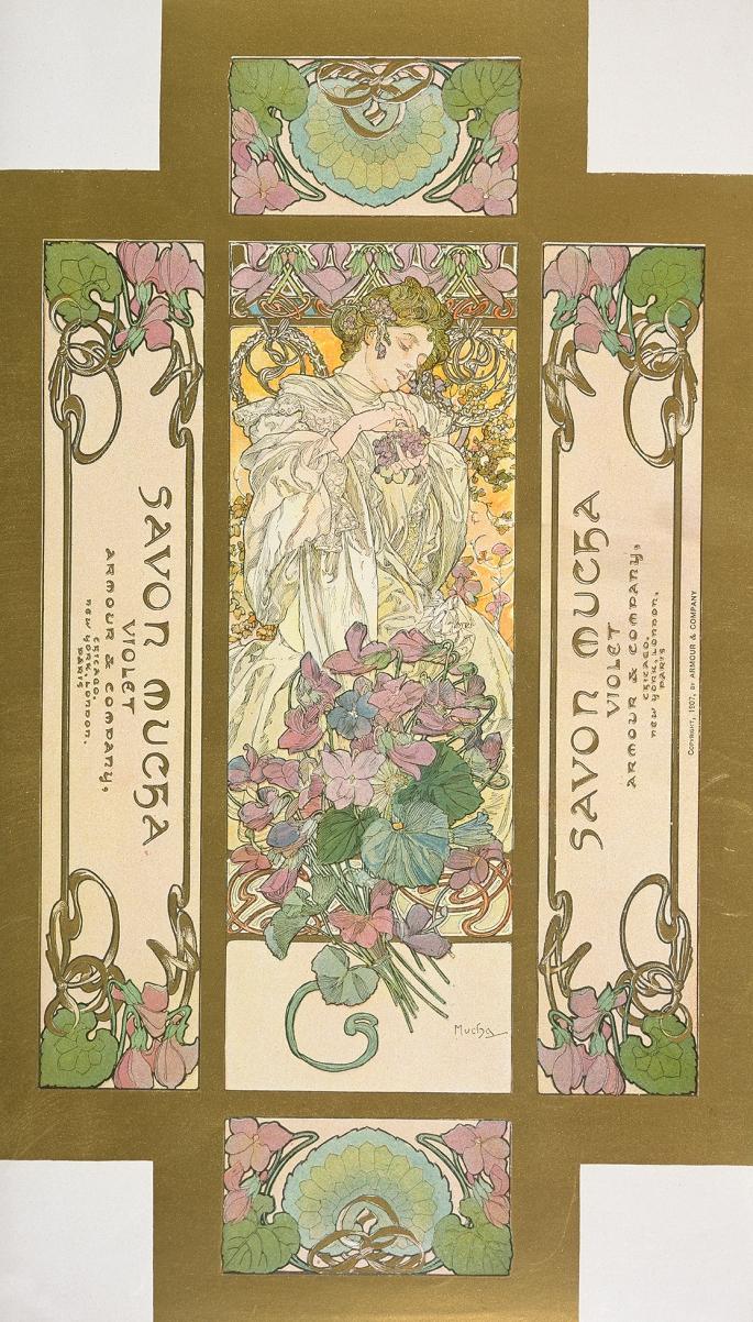 Emballage pour le «Savon Mucha violette»